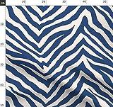 Zebra, Marineblau, Tier, Haut, Weiß Stoffe - Individuell