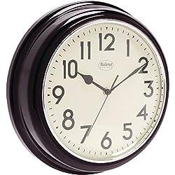 Analógico Retro Vintage Rústico 32cm–Reloj de pared de cuarzo–Reloj de diseño Redonda de cocina/oficina/dormitorio etc Negro