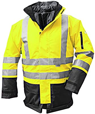 3-in-1 Warnschutzparka / Warnschutzjacke / Sicherheitsjacke, Größe XXL