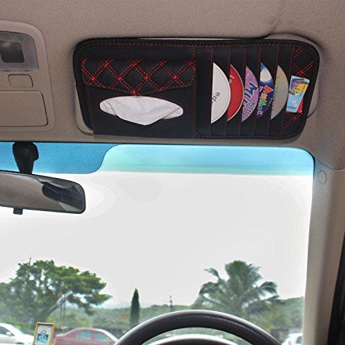 car visor cd/dvd storage organizer bag and tissue holder- with tissue Car Visor CD/DVD Storage Organizer Bag and Tissue Holder- With Tissue 51MaGWw2SWL