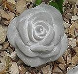 Stein Rose Rosenblüte Blüte Blumen Steinguss frostfest Wetterfest Garten Deko 11cm