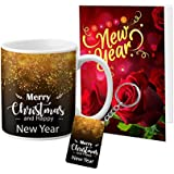 LOF Merry Christmas and New Year Blessing of Wishes Gifts For Friends Greeting Message Card Mug Keychain