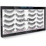 EmaxDesign 10 Pairs Fake Eyelashes, Multipack Natural 3D False Eyelashes - Fashion Eyelashes Extension For Makeup.