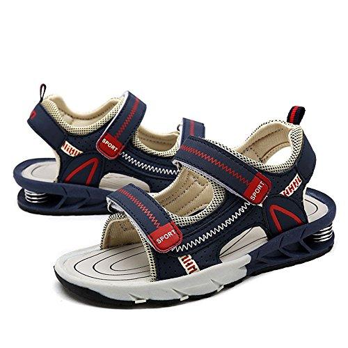 Myaikku Sommer Schuhe Jungen Geschlossene Sandalen Outdoor Sports Jungen Mädchen Dunkelblau