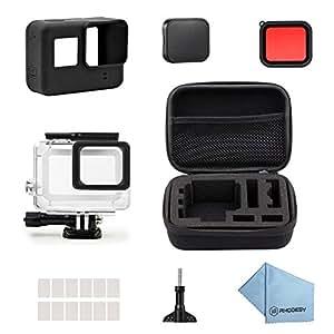 Rhodesy 18 in 1 Custodia Protettiva Impermeabile Pacco Accessori per GoPro HERO 2018 Hero 6 Hero 5 Action Camera