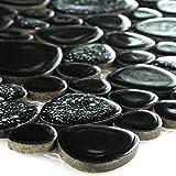 Keramik Kiesel Keramische Mosaik Mosaikfliese Schwarz