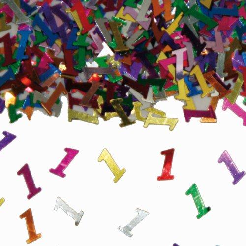 Bunt Glitzerndes Konfetti Mit Geburtstagszahl 1 Tute Mit 15g Ca