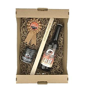4 Teiliges Geschenkbox Grillmeistervatertagbiergrillgewrzgrillzangevatertagpapamanngrillergeburtstag