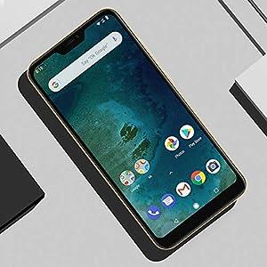 "Xiaomi Mi A2 Lite Smartphones 5.84"" Pantalla Full HD 4 GB RAM + 64 GB ROM Snapdragon 625 Octa Core Dual SIM MicroSD 5MP Frontal + 12MP 5MP Dual Cámara Trasera Móviles Teléfono (Dorado)"