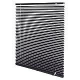 Intensions Persiana Veneciana de Aluminio Color Negro, Aluminio, Negro, 140x175cm