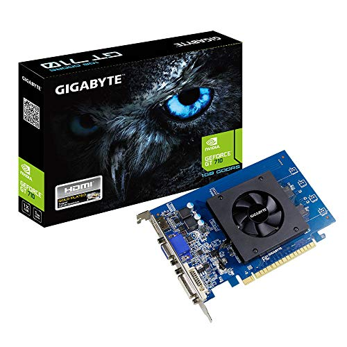 Gigabyte GV-N710D5-1GI GeForce GT 710 1GB GDDR5 - Tarjeta gráfica (GeForce GT 710, 1 GB, GDDR5, 64 bit, 4096 x 2160 Pixeles, PCI Express x8 2.0)