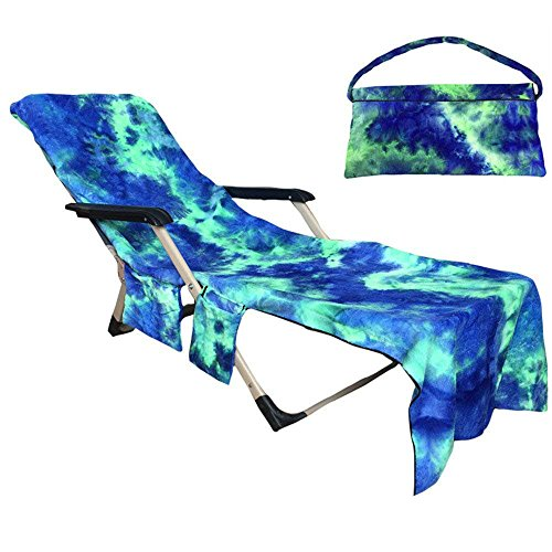 Baiyouli Lounge Chair Strandtuch Cover Mikrofaser Pool Lounge Chair Cover für Sonnenbad mit...