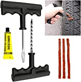 Tekbox Car Van Tubeless Tyre Puncture Repair Tool Kit with 3 Strips