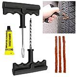 TekBox Car Van Tubeless Tyre Puncture Repair Tool Kit with...