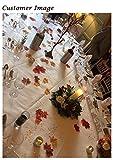 Luxbon 150 Stück künstliche Herbst Ahornblätter Ahorn Laub Herbstlaub Blätter für Unterlage Wandbild Türschild Party Hochzeit Weihnachten Deko - 4