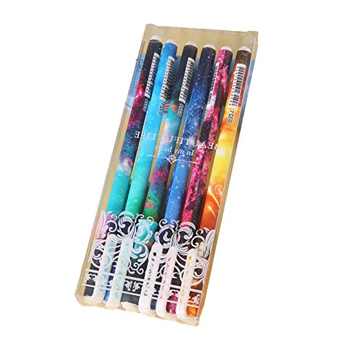 Drawihi, Corea Creativas, 6 pezzi, lotto Kawaii 0.38, serie di penne con inchiostro gel, per ufficio e cancelleria
