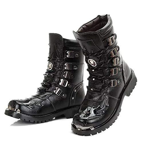 Botas Militares Altas Punk De Invierno Lace-Ups Martin Boot Moda...