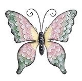 Gartenfigur / Metallfigur / Blechfigur , pulverbeschichtet, handbemalt / Deko-Figur - verschiedene Modelle - (Schmetterling, Größe: ca. 53 cm)