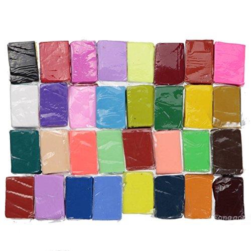 PhilMat Bloque arcilla fimo 32 colores polímero