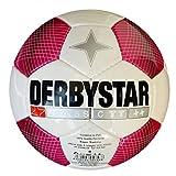 Derbystar Classic TT Fußball / Spielball Trainingsball IMS Approved weiß/pink