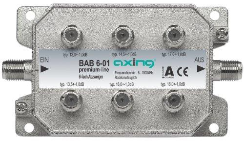 Axing BAB 6-01 6-Fach Abzweiger mit 13-18 dB Abzweigdämpfung (5-1000 MHz)