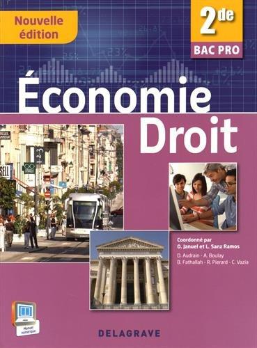 Economie Droit 2de Bac Pro (2015) - Pochette élève
