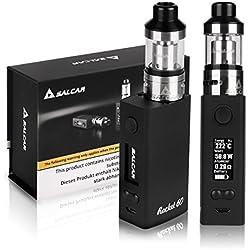 Salcar Rocket 60 Mod Kit de iniciación de Cigarrillo Electrónico 60w, Vaporizador de 0.3ohm/2ml, batería incorporada de 2000mAh, 0,00 mg Nicotina (nergo)