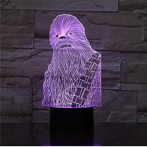 ar Chewbacca nachtlicht LED touch sensor licht schlafzimmer dekoration kindernachtlicht Chewie tisch 3d nachtlicht star wars ()