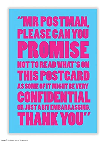Funny Humorous 'Confidential Mr Postman' Postcard
