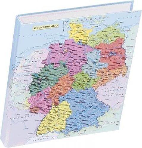 Pagna Ringbuch Deutschlandkarte A4 2-Ring-Mechanik, Motivdruck laminiert