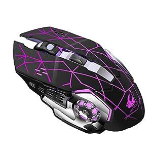 happy event Wiederaufladbare X8 Wireless Silent LED Hintergrundbeleuchtung USB Optische Ergonomische Gaming Mouse