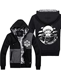 Trafalgar Law Hoodie Capuche Cosplay Costume Anime Adulte Homme Automne & Hiver Zip Up Manteau