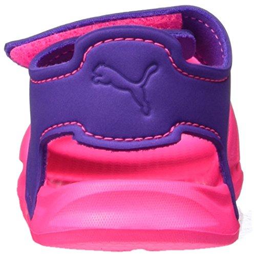 Puma Wild Sandal Injex Inf, Scarpe da Ginnastica Basse Unisex – Bambini Rosa (Knockout Pink-electric Purple 03)