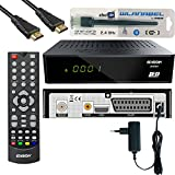 Edision Proton LED Full HD Satelliten-Receiver FTA HDTV DVB-S2 (HDMI, Scart, Display, USB 2.0, Wlan) inkl. Kabelabel(YouTube) und HDMI Kabel