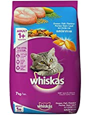 Whiskas Adult (+1 year) Dry Cat Food, Ocean Fish Flavour, 7kg Pack
