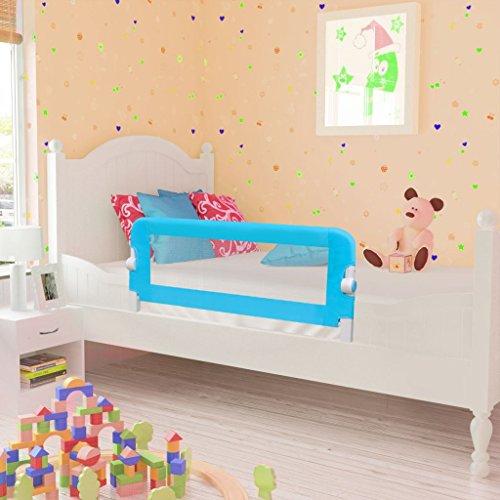 Imagen para vidaXL Barandilla seguridad de color azul infantil para la cama 102 x 42 cm