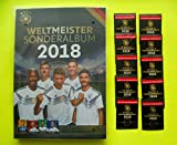 DFB Rewe WM 2018 Russland Sammelkarten Album + 10 Tüten/10 Karten Neu Ovp