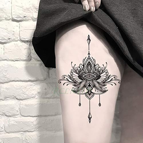 tzxdbh 3 Stücke-wasserdichte Tattoo Aufkleber Gold Schlüssel Blume Diamant Halskette Tattoo Art Tattoo Mädchen Weiblich Männlich 3 Stücke- (Crystal Point Halsketten)