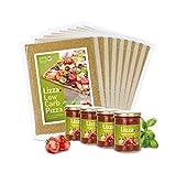 Lizza Low-Carb Pizza-Teig aus Lein-Samen und Chia-Samen. Bio. Gluten-Frei. Vegan. (8 x...