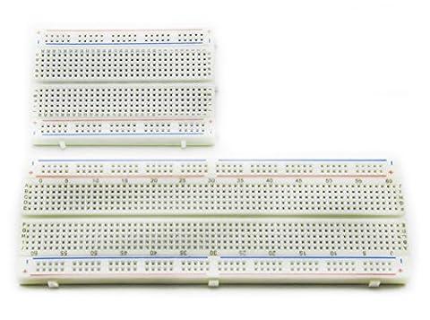 ALLDE 400 Plus 830 Kontakte (MB 102) Breadboard Steckbrett Lochraste Laborsteckboard Experimentierboard für raspberry pi / (Mb Draht)