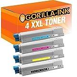 Gorilla-Ink® 4 Toner XXL kompatibel zu Oki C5800 C5900 Black Cyan Magenta Yellow