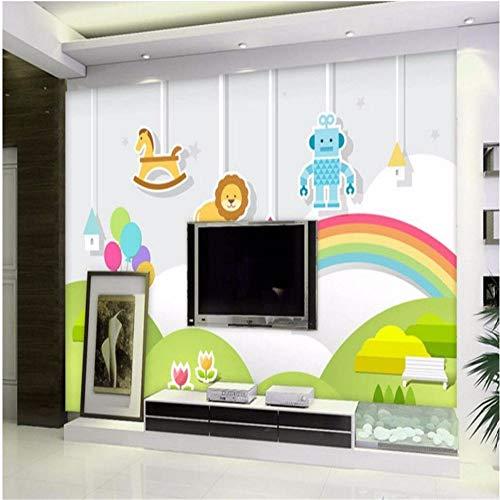 Tapeten Wandbild Hintergrundbild Kundenspezifische Papel De Parede Tapete 3D Kinderzimmer Niedlichen Cartoon Landschaft Schlafzimmer Hintergrundbild Papier Peint, 350 * 245 Cm