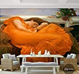 Fotomurales Murales De Pared En 3D Llameante Junio Papel Tapiz Fotográfico De Fama Mundial Papel Pintado Arte Habitación Decoración Dormitorio Cafetería Tv Sofá Telón De Fondo-450X300Cm,murales