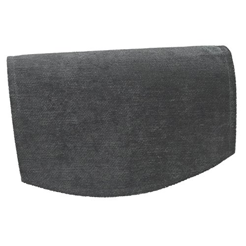 QPC DIRECT Plain Chenille Soft Touch Antimacassar Sofa Furniture Cover,  Slate Grey (Chair Back [Single])