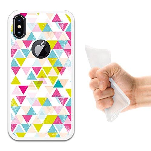 iPhone X Hülle, WoowCase Handyhülle Silikon für [ iPhone X ] Hund Fußabdruck Handytasche Handy Cover Case Schutzhülle Flexible TPU - Schwarz Housse Gel iPhone X Transparent D0092