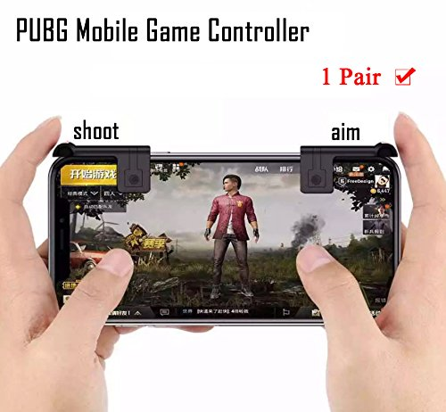 pubg Mobile Game Controller [Upgrade Version] autra Fire Button und Ziel Schlüssel Joystick Shooter Kontrolle Spiel, Gun Trigger für Rules Of Survival, Empfindliche Shooting iPhone, Android, iOS (1 Paar)