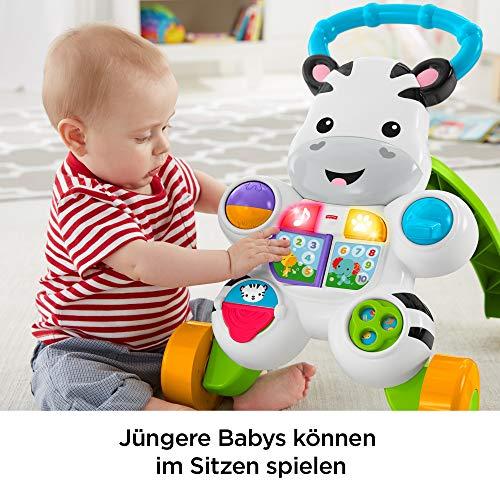 Fisher-Price DLD94 Zebra Lauflernwagen Lauflernhilfe mit Musik und Lichtern lehrt Buchstaben und Zahlen, ab 6 Monaten deutschsprachig - 4