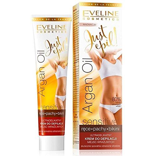 Eveline Just Epil Argan Sensitive Hair Removal Cream Underarms Bikini Hands...