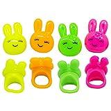 Blinkring 8er Set - Das Original - Bunny-Edition - Blinkende LED Party Ringe (4-Farben-Mix)
