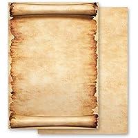 Papel de carta – Hojas estampadas PERGAMINO 100 hojas DIN A6